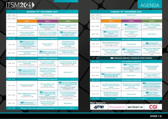 ITSM2021 Agenda thumbnail